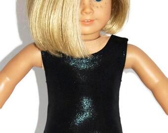 "Black Shiny Leotard - Doll Clothes fits 18"" American Girl Dolls"