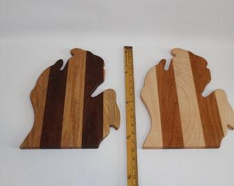 Michigan shaped wood cutting board