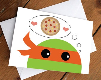 Orange ninja turtle card