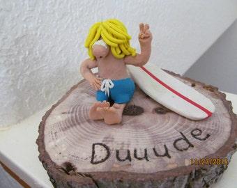 Duuude Polymer clay figurine