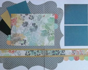 Muted Shades Scrapbook Kit