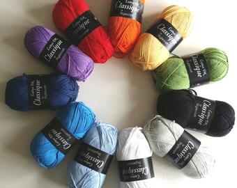Stylecraft Classique 100% Cotton DK yarn 100g SALE