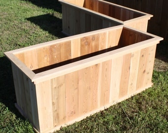 Two Brand New Large Solid All Cedar Garden Planter Boxes, 2 feet by 3 feet by 2 feet high - Free Shipping