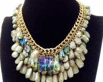 Modern stylish gold tone necklace