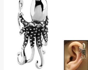Cute Octopus Design Surgical Steel Ear Cuff