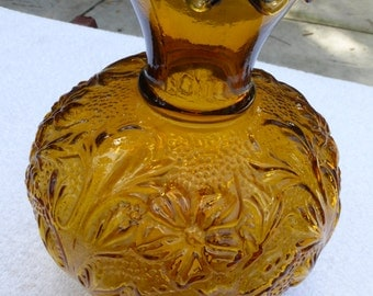 "Vintage Amber Glass Oil Kerosene Lamp Shade 3"" fitter"