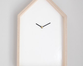 Birch wood wall clock