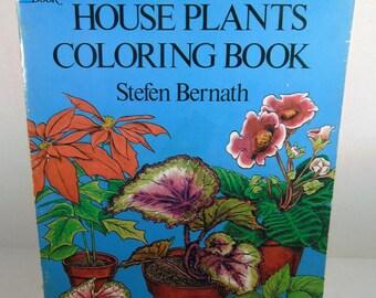 House Plants Coloring Book with Descriptions, Dover Publications, 1978,