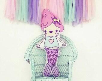 Cute Pink Mer'Bella Plush Pillow
