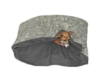 Sleep In Dog Bed, Organic Denim Dog Bed, Washable Dog Bed,