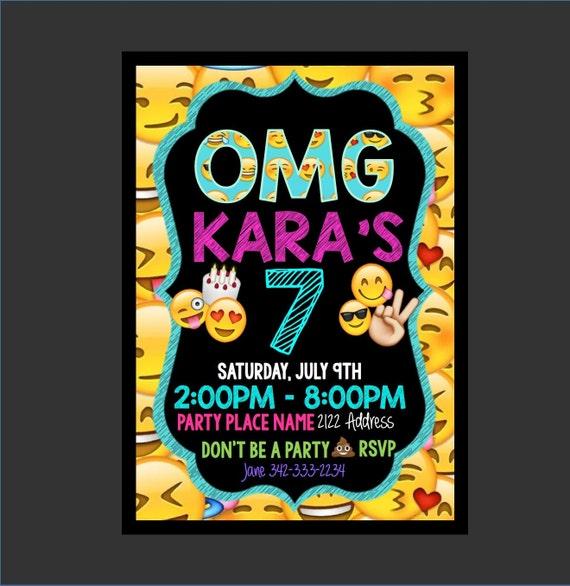 Emoji Birthday Emoji Invitation Emoji Text By