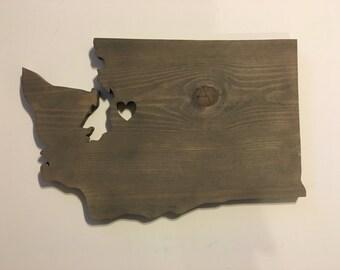 Custom Washington State Wood Cutout