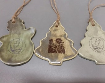 Ceramic Grateful Dead Ornaments