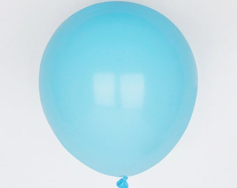 10 baby blue balloons