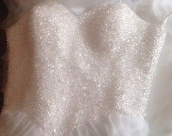 SUMMER SALE Handmade Sparkling Crystal Ball Gown