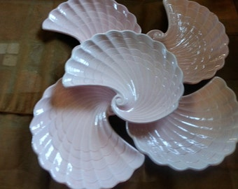 Shafford Made in Japan Mid Century Pink ShellCandy Dishes set of 4