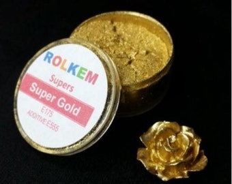 Gold Metallic Super Dust By Rolkem Gold Highlighter Dust DUS216