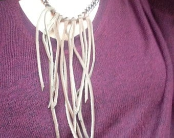 Copper Chain and Fringe Necklace