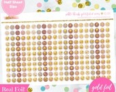 Subtle Blush Gold Foiled Functional Planner Icons Stickers (perfect for planners) #GFI-004