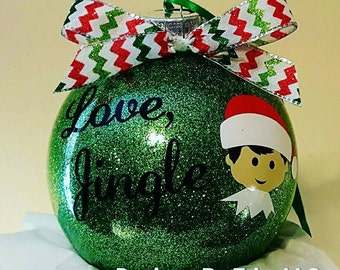 Personalized Elf Ornament