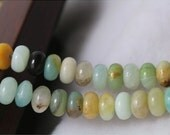 5 x 8 mm Multicolor Rondelle Amazonite beads, natural round beads, 15 inches per strand