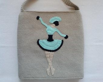 Lady dancer Applique Pattern Crochet Applique PATTERN PDF Ballerina dancer Crochet girl pattern Crochet dancer applique Pattern PDF