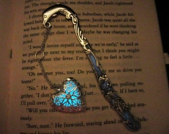 Dolphin silver bookmark glow in the dark