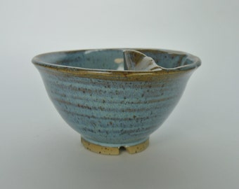 Ceramic two section olive bowl, unique design, handmade.