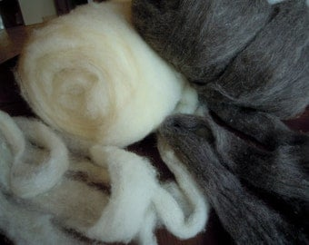 Off White color Raw sheep wool for felting and knitting, 100% natural sheep wool