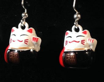 Maneki Neko Earrings