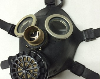 Small gas mask children black gas mask without hose soviet russian