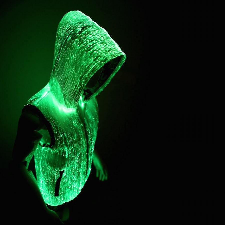 Glow hoodies