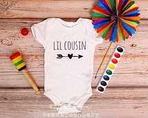 Little Cousin Shirt; Lil Cousin Heart Arrow Baby Bodysuit; Little Cousin Baby Announcement; Cousin Shirt; Family Pictures; Little Cousin Tee