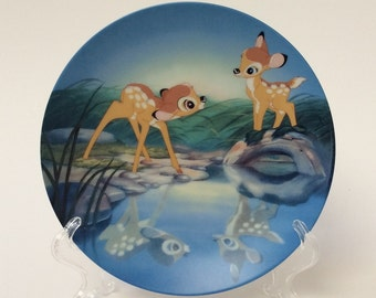"Disney Bambi Plate, ""Bashful Bambi"", Knowles Collector Plate, Plate 1 in Series"