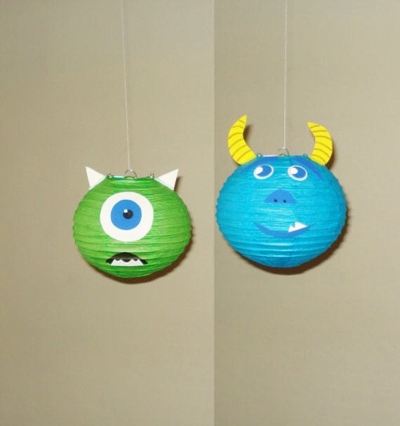 monster inc paper lanterns party decorations baby shower room decor