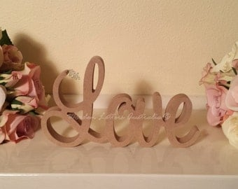 LOVE MDF Wooden Letters gift, wedding, birthday wood sign decoration
