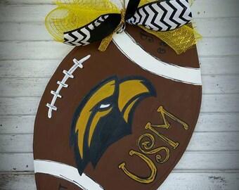 USM Football Door hanger Golden Eagles