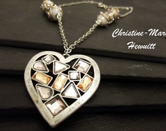 Langenlook Silver Heart Pendant Necklace