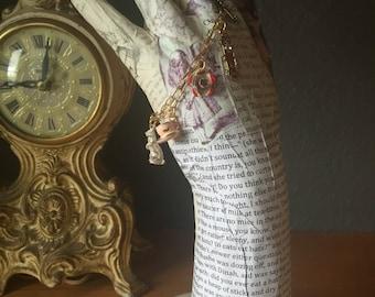 Alice in Wonderland Gold Charm Bracelet
