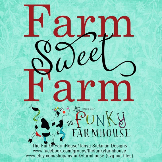 "SVG & PNG - Farm ""Sweet"" Farm"