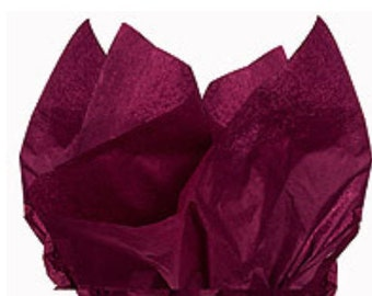 100 Sheets Cranberry 15inch x 20inch Gift Wrap Tissue Paper