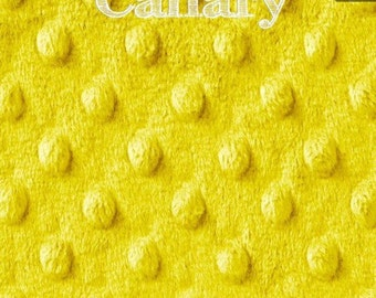 Yellow Minky Body Pillow Cover with Zipper closure