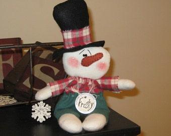 Snowman Shelf Sitter - Snowman Decoration - Winter Decoration