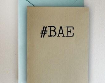 Hashtag BAE Card