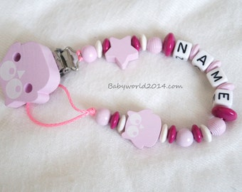 Dummy chain/ Dummy clip/ Pacifier chain/ Pacifier clip/ Pacifier holder with name