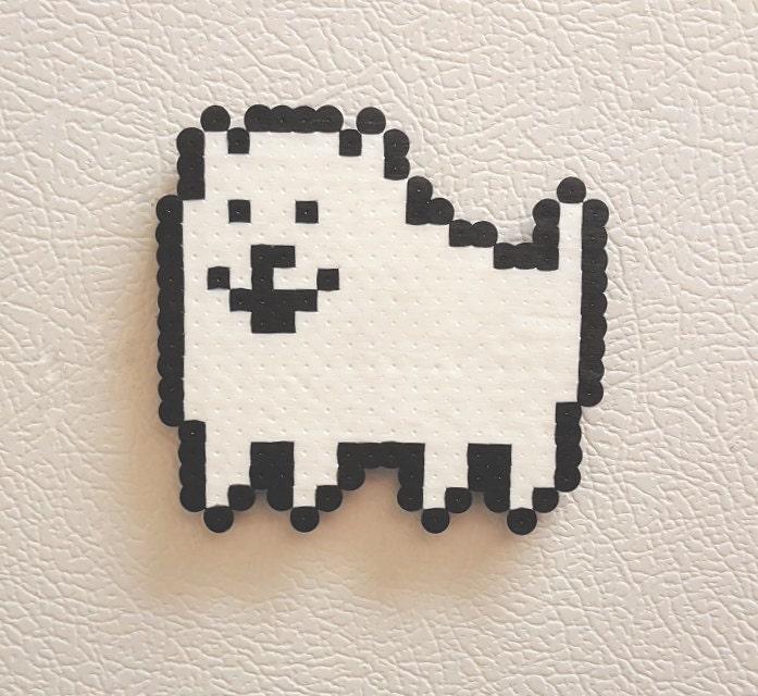Undertale annoying dog perler retro gaming video game for 8 bit room decor