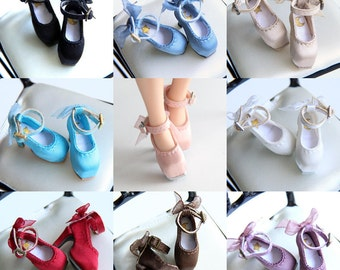 SK Couture Classic Silk Shoes for Blythe, Azone, Momoko, Pullip, Licca, Jenny