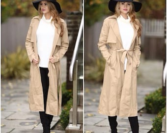 Tan Mac Belted Trench Coat