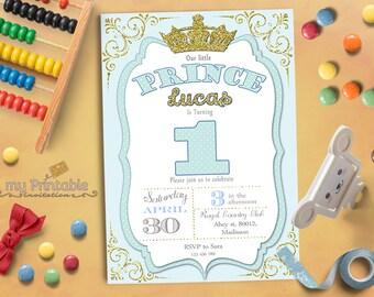 Prince Birthday Invitation / Printable