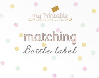 Matching Bottle Label for your Invite